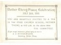 1919 peace celebration card