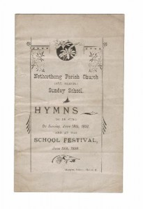 Cover dated June 18 1899 for the Sunday School Festival