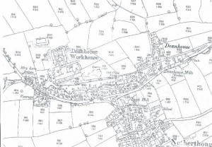 Old map of the Workhouse and Deanhouse