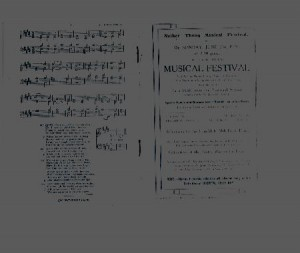 Programme for the 5th. annual Musical Festival . June 22 1925