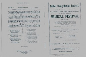 Programme for the 10th.Annual Musical Festival . June 22 1930