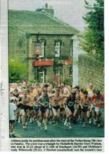 The start of the Netherthong 10k race