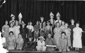 Members of the school play 1954.