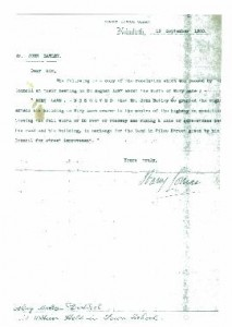 Letter from Netherthong District Council granting John Batley permission to extend his property