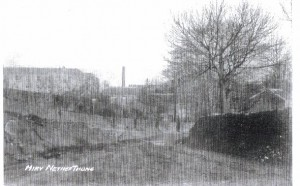 Very early photograph, 1900s. Institution is on the left but what are the other buildings?