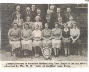 Choir contest winners 1940s.