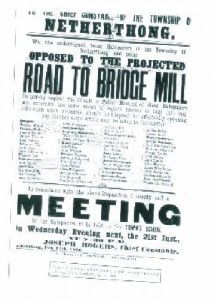 Copy of Public Notice for Meeting on 21st. Feb. 1866