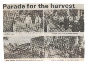4 photos for the Harvest Festival parade October 1980