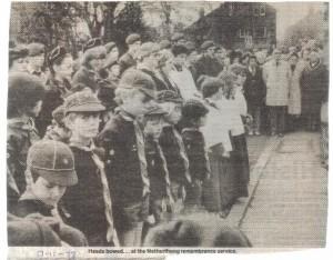 Remembrance service November 1978