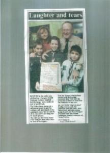 Scouts celebrate a £5,000 lottery windfall.