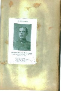 Private David Wilkinson.Died Sep 9, 1915