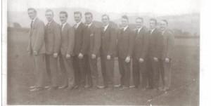 Line of 10 men - 1920s/1930s