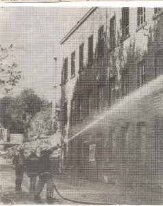 Fire at Dean Brook Mill October 1989