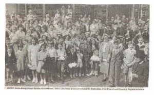 Combined school feast 1952