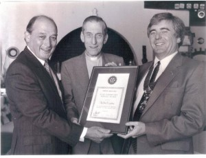 Rev. John Capstick receiving award circa 1990s