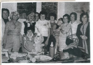 Ladies at bric-a-brac stall