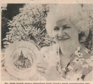 Mrs. Sheila Gledhill with the special commemorative plate