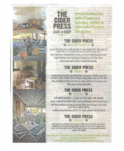 Cider Press advert Nov.2013