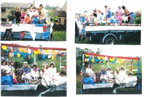 Floats at the carnival 1990.