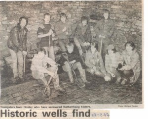 Youngsters at historic wells