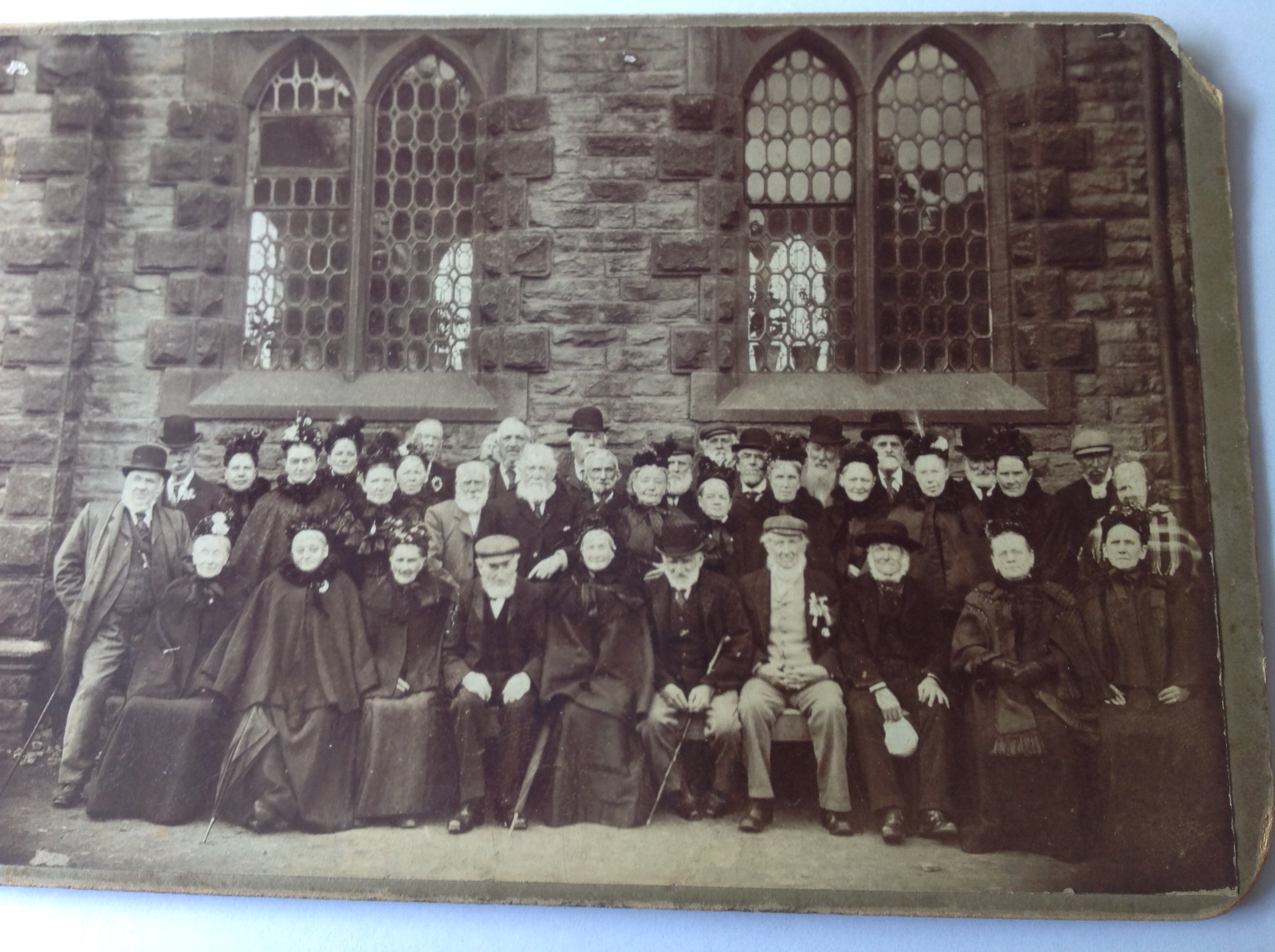 Old Folks of Netherthong 1898 outside church.