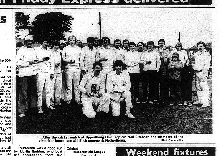 Netherthong v Upperthong Cricket match June 1978